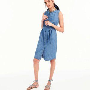 J.CREW Denim Shirt Women's Dress Sleveless Sz.S